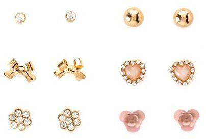 Charlotte Russe Whimsical Blossom Earring Set