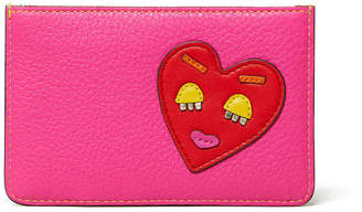 Tory Burch Perry Colorblock Leather Heart Patch Card Case