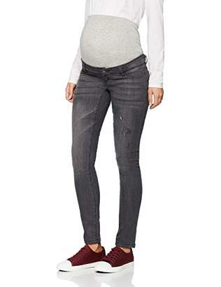 Mama Licious Mamalicious Women's Mljulia Slim Washed Jeans A. Trouser, Medium Grey Denim, W32/L32