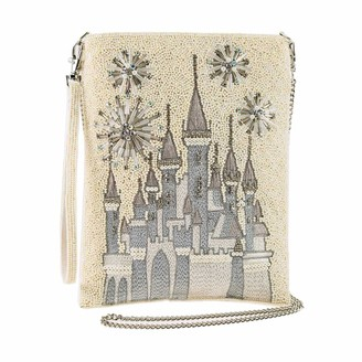 Mary Frances Disney Princess Castle Beaded Crossbody Handbag Purse