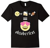 Women's Funny Emojis Oktoberfest T-Shirt: Beer Emoticon Shirt Smiley XL