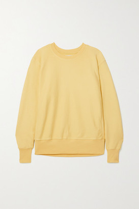 LES TIEN Cotton-jersey Sweatshirt - Yellow