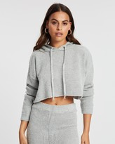 Missguided Boucle Cropped Hoodie