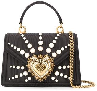 Dolce & Gabbana Small Moire Devotion bag