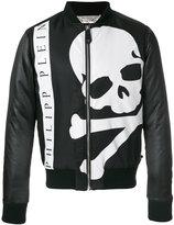 Philipp Plein maxi skull print bomber jacket