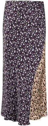 Chinti and Parker Patchwork Floral Print Skirt