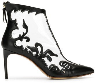 Francesco Russo Embroidered Detail Ankle Boots