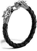John Hardy Men's 'Naga' Dragon Head Leather Bracelet