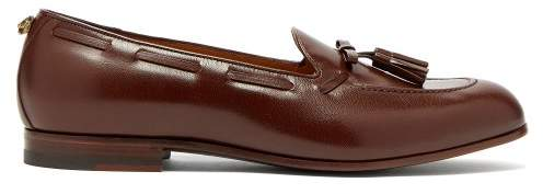 Gucci Loomis Leather Tassel Loafers - Mens - Brown
