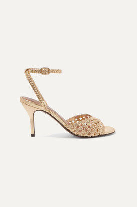 Souliers Martinez - Arenales Woven Leather Sandals - Gold
