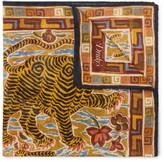 Drake's - Tiger-print Cotton, Modal And Cashmere-blend Pocket Square