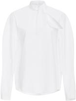 DELPOZO Tie Neck Cotton Shirt