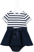 Ralph Lauren striped bow dress - kids - Polyester/Spandex/Elastane/Viscose - 12 mth