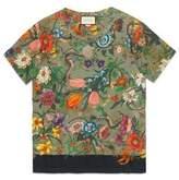 Gucci AC/DC print tie-dye cotton T-shirt