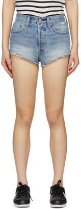 Levi's Levis Blue 501 Micro Shorts