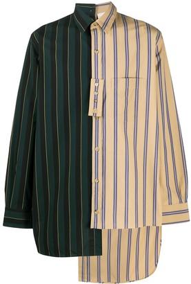 Lanvin Striped Asymmetric Shirt