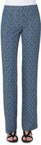 Akris Punto Marla Abstract-Print Pants, Blue Pattern