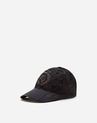 Dolce & Gabbana Floral Jacquard Baseball Cap With Patch