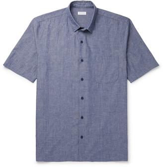 Sunspel Melange Selvedge Cotton-Chambray Shirt