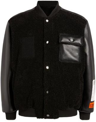 Heron Preston Faux-Leather Bomber Jacket