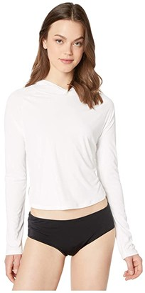 Hurley Hybrid One and Only Long Sleeve Surf Top (White) Women's Swimwear
