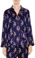 Sandro Dontown Printed Silk Shirt