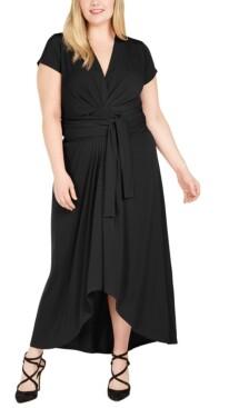 Michael Kors Michael Plus Size Tie-Front Faux-Wrap Dress