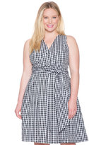 ELOQUII Plus Size Gingham Wrap Dress