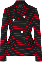 Proenza Schouler Striped Cotton And Wool-blend Jacquard Blazer - Black