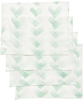 Minted Chevron Set Of 4 Placemats