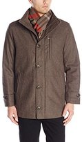 London Fog Men's Antone Fitted Car Coat with Scarf