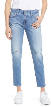 AG Jeans Ex-Boyfriend Distressed Slim Fit Jeans