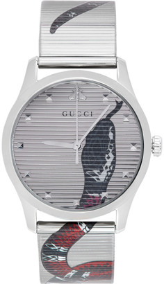 Gucci Silver G-Timeless Snake Watch