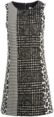 Alice + Olivia Clyde Patchwork Aline Mini Dress