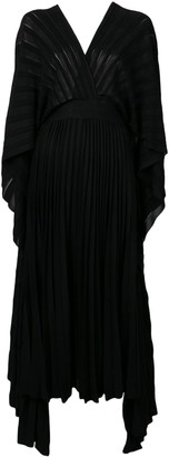 Valentino pleated knit cocktail dress