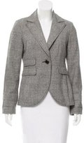 Tibi Plaid Notch-Lapel Blazer