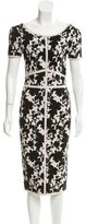 Zac Posen Floral Patterned Sheath Dress