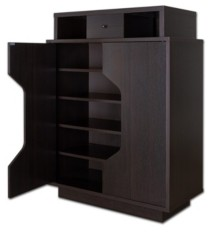 Furniture of America Moline 1-Drawer Shoe Cabinet