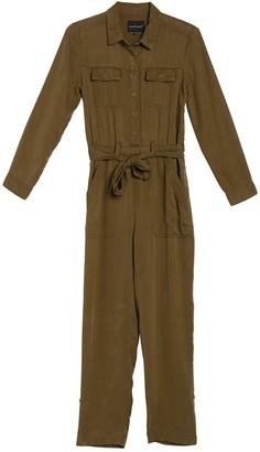 Velvet Heart Frenzia Long Sleeve Tie Waist Utility Jumpsuit