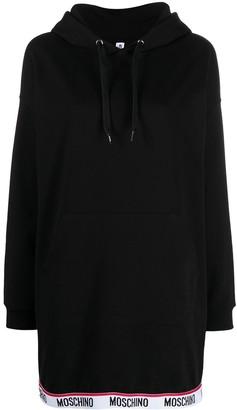 Moschino Logo-Tape Hooded Dress