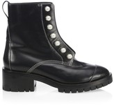 3.1 Phillip Lim Hayett Faux Pearl Leather Combat Boots