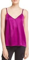 Vince Pleat Neck Silk Camisole Top