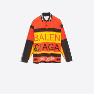 Balenciaga Jersey and poplin oversize polo