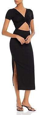 Fore Rib-Knit Cutout Dress