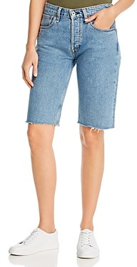 Rag & Bone Rosa Cotton Denim Bermuda Shorts in Misha