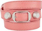Balenciaga Women's Arena Giant Double Tour Bracelet-PINK