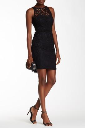 Marina Sleeveless Lace Sheath Dress