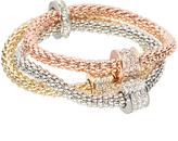 Love Rocks Crystal & Tri-Tone Trio Stretch Bracelet