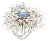 Maiyet 18K White Gold, Opal & 6.24 Total Ct. Diamond Large Starburst Ring