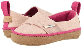 Toms Kids Pinto (Infant/Toddler) (Pink Microsuede) Girl's Shoes